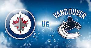 Jets vs Canucks (1 Upper Bowl Ticket) $65