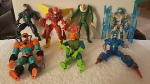 LOT OF 7 MARVEL ACTION FIGURES