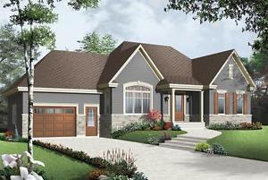NEW $ CON  SQ FT BUNGALOW WITH GARAGE ON YOUR LOT