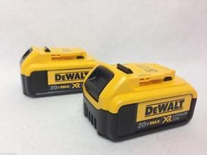 NEW! DeWALT 20V 4 AH Premium XR Battery With Fuel Gauge PAIR
