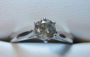 New& Rare 0.70 CT Golden/Brown Solitaire Diamond