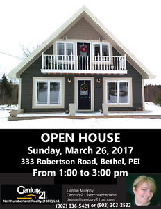 OPEN HOUSE - 333 Robertson Road, Bethel, PEI