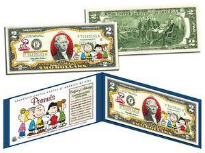 PEANUTS *Charlie Brown & Gang* Legal Tender U.S. $2 Bill