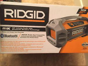 Ridgid 18v jobsite radio w/Bluetooth BRAND NEW in box for