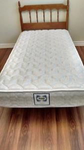 Single Bed - new mattress, headboard, rails, bedding