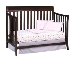 Sleigh bed style 4-in-1 crib