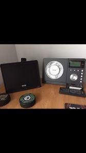 TEAC sound system w/ 2 speakers & subwoofer