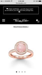 Thomas Sabo Rose Quartz Ring