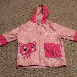 Toddler girl rain coat and splash pants