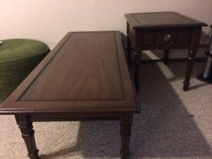 1 coffee & 2 end tables solid wood