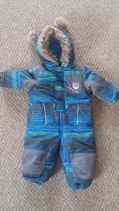 18 months one piece zip up winter suit