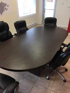 8' X 4' oval SOLID office boardroom table - $300
