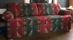 COUCH (pull out sofa-bed) and LOVE SEAT