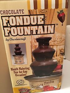 Chocolate Fondue Fountain set like new used only once