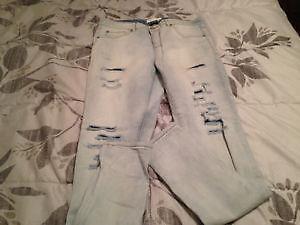 Garage Denim Stretch Distressed Jeans