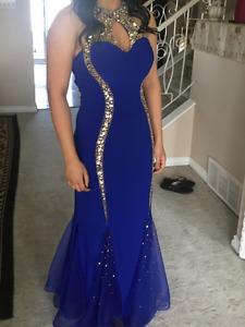 Gorgeous Size 8 Blue Grad Dress