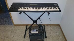 KEYBOARD, AMP, STAND and PEDAL