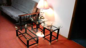 Lamp, Coffee Table, Two End Table
