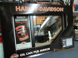 NEW HARLEY DAVIDSON COAT RACK AND MIRROR, NEW AND IN THE Box