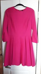 New NWT PINK Dress !! zip long sleve
