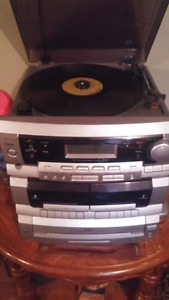 Record, tape and cd player