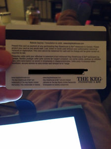 The Keg Steakhouse Giftcard worth $600