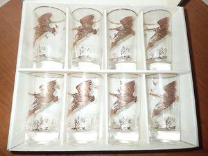 VINTAGE FLYING GEESE GLASSES by VIP DOMINION GLASS