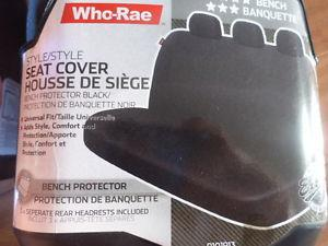 Who-Rae rugged black bench seat cover out of box