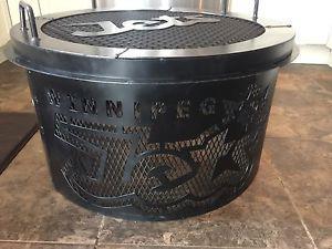Winnipeg Jets custom fire pit