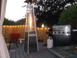 2 patio heaters and 1 brand new canopy tent 10x12 feet
