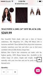 """240gram 24"""" Remy human hair extensions"""