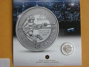 CANADA $20 SILVER HOCKEY COIN, SOLD OUT AT THE MINT.