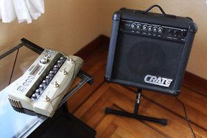 CRATE GX-15 Lead Guitar AMP, 2 Channels, PLUS Line6 JM4