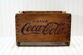 Coca-Cola Collection Wood Case & Vintage Coke Bottles