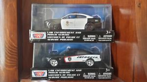 Diecast dodge charger police cars