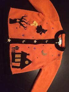 Girls Beautiful Halloween Sweater Sz 5/6