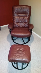 Glider Leather chair and Ottoman