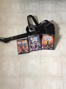 Guitar Hero with 3 games (for playstation 2)
