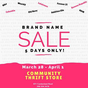 HUGE Brand Name Clothing Sale