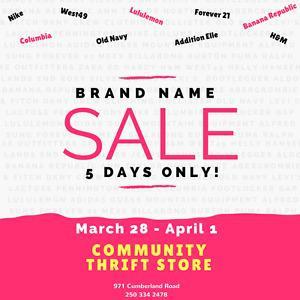 HUGE Brand Name Clothing Sale