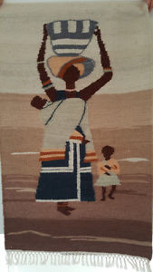 'One if a kind' hand woven Arican tapestry