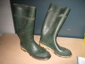 Rubber boots size 12