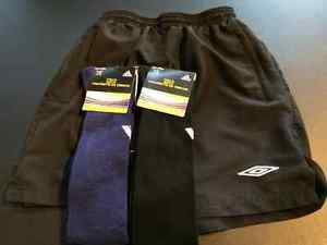 Soccer Ref shorts and 2 pairs of new soccer socks