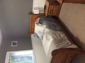 Solid pine bedroom set and mattress