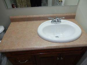 Vanity counter Top and Faucet