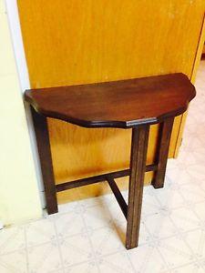 """Vintage Half Moon Table, 22"""" x 11"""""""