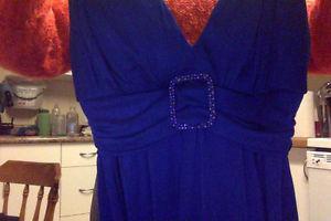 blue dress, flower dress