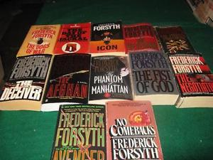 frederick forsyth books $1 each or $10 for the lot