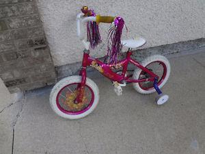 "$110 - Disney Princess 14"" Bike w/Training Wheels. GREAT"