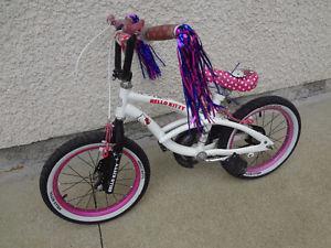 $140 - Hello Kitty 16'' bike w/training wheels. GREAT DEAL !